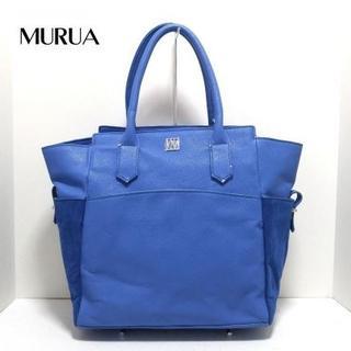 ムルーア(MURUA)のMURUA(ムルーア) ハンドバッグ ブルー 合皮 5yr(ハンドバッグ)
