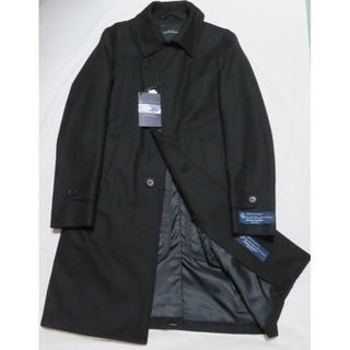 ■新品【アローズ】×【ロロピアーナ(伊)】極上ステンカラーコート 黒 S ウール