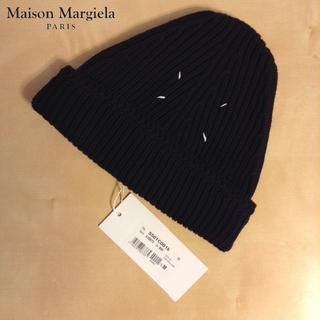 マルタンマルジェラ(Maison Martin Margiela)の新品■M■マルジェラ■19ss■黒■ドライバーズニット キャップ■6966(ニット帽/ビーニー)