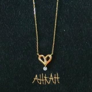 アーカー(AHKAH)のアーカー ダイヤモンド付ハートモチーフのK18ネックレス(ネックレス)