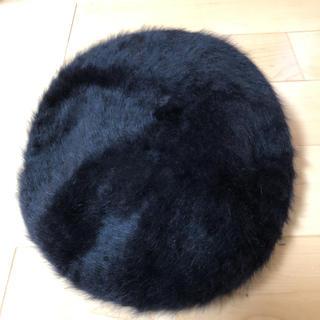 ユニクロ(UNIQLO)のUNIQLO アンゴラ混ファーベレー帽(ハンチング/ベレー帽)