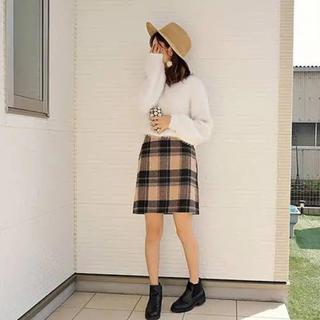 ユニクロ(UNIQLO)のチェック台形スカート GU INGNI MiiA スナイデル リランドチュール(ミニスカート)