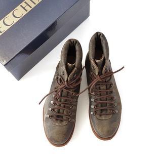 ビームス(BEAMS)の未使用 イタリア SECCHIARI MICHELE 加工レザー ブーツ 41(ブーツ)