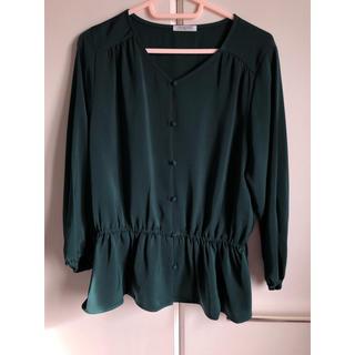 ハニーズ(HONEYS)のモスグリーン  濃緑 ブラウス 七分袖 size M(シャツ/ブラウス(長袖/七分))