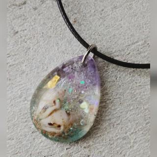 みほいちご様 レジン ネックレス しずく型 貝殻(ネックレス)