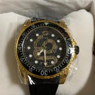 Gucci - 即日発送❗️GUCCI 腕時計 ダイヴウォッチ スネーク ゴールド