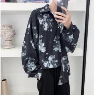 ラッドミュージシャン(LAD MUSICIAN)の大人気 バラ模様(薔薇柄)シャツ モード系 韓国ファッション ビックシルエット(シャツ)