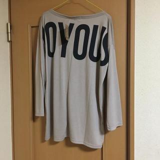 大きいサイズ   ロンT  長袖Tシャツ  ベージュ 新品(Tシャツ(長袖/七分))