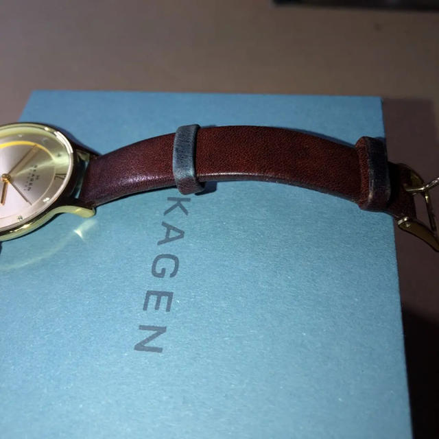 SKAGEN(スカーゲン)のSKAGEN レディース 時計 レザーウォッチ レディースのファッション小物(腕時計)の商品写真