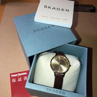 スカーゲン(SKAGEN)のSKAGEN レディース 時計 レザーウォッチ(腕時計)