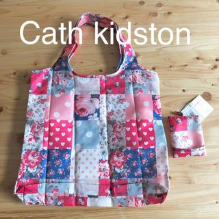 Cath Kidston - 新品 キャスキッドソン エコバッグ 花柄 ポーチ付き 水玉 ショッピングバッグ