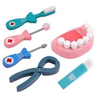 プレゼントに♡ お医者さん セット 歯医者ごっこ遊び  知育玩具 木のおもちゃ(知育玩具)