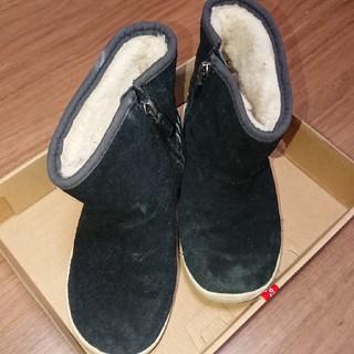 アグ(UGG)のugg 18,5 ムートンブーツ キッズ 紺(ブーツ)