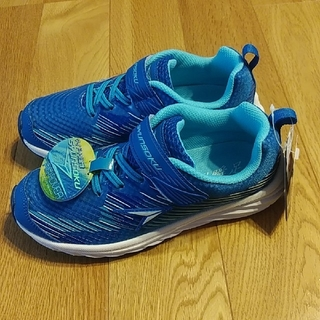 Achilles - 瞬足 22.0センチ 3E ブルー