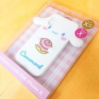 シナモロール(シナモロール)のシナモロール iPhoneX/Xs 兼用 シリコンカバーSAN785(iPhoneケース)