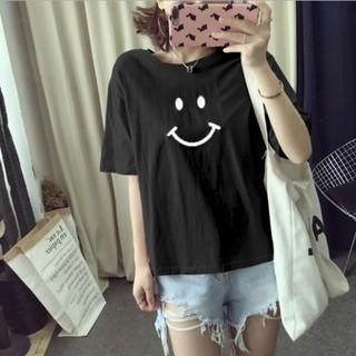Tシャツ 半袖 ニコちゃんマーク シンプルデザイン 白or黒 M L 夏 (Tシャツ(半袖/袖なし))