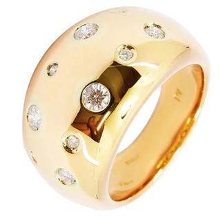 ポンテヴェキオ(PonteVecchio)のポンテヴェキオ リング ダイヤ 10P K18PG 750 約11号 新品仕上(リング(指輪))