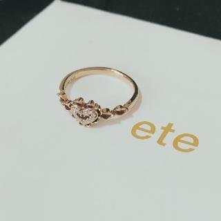 エテ(ete)のete K18ダイヤモンドリング(リング(指輪))