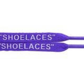 """オフホワイト(OFF-WHITE)のFlat Purple """"SHOELACES"""" Shoe Laces  紫 靴紐(その他)"""