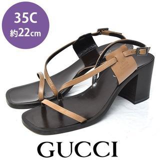 グッチ(Gucci)のグッチ サイドロゴ サンダル 35C(約22cm)(サンダル)
