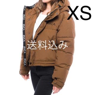 ルーカ(RVCA)の【XS】RVCA ルーカ PUFFA JACKET パフ ジャケット ブラウン(ダウンジャケット)