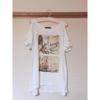 ヘザー(heather)の肩あきTシャツ(Tシャツ(半袖/袖なし))