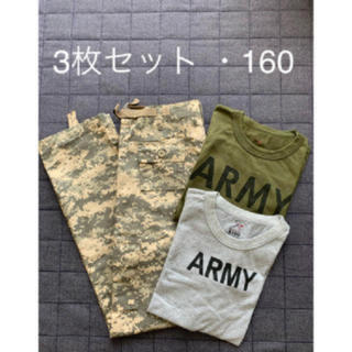 【美品】ロスコ カーゴパンツ+Tシャツ2枚セットミリタリー カモフラ