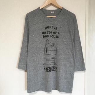 スヌーピー(SNOOPY)のスヌーピー ゆったり七分袖Tシャツ(Tシャツ(長袖/七分))