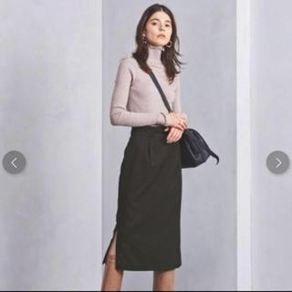 ユナイテッドアローズ(UNITED ARROWS)の新品 タグ付き UNITED ARROWS  フロッキードットスカート(ロングスカート)