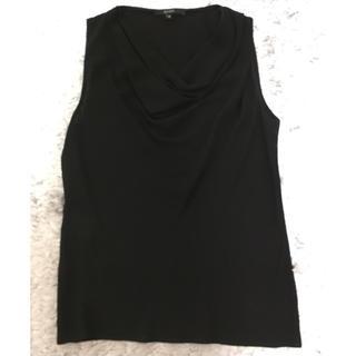 グッチ(Gucci)のGucci 黒 ノースリーブブラウス(シャツ/ブラウス(半袖/袖なし))