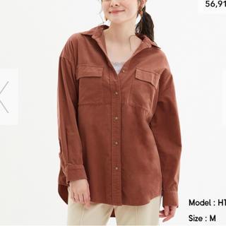 GU コーデュロイオーバーサイズシャツ(シャツ/ブラウス(長袖/七分))
