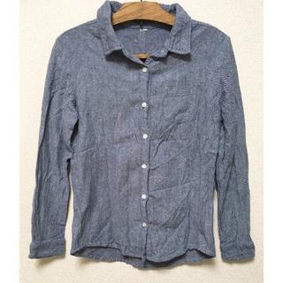 M*ネイビーヘンリボーンコットンシャツ(シャツ/ブラウス(長袖/七分))