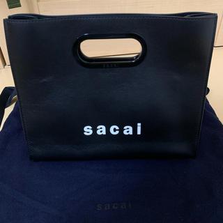 サカイ(sacai)の【極美品】sacai 19SS ロゴ レザー ハンドバッグ トート サカイ(ハンドバッグ)