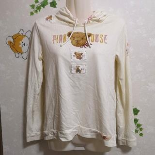 ピンクハウス(PINK HOUSE)のピンクハウス くま クマちゃん フード付き パーカー(トレーナー/スウェット)