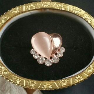 ◆15◆ベージュカラーのハートリング(リング(指輪))