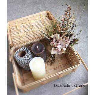 スモーキーピンク色の淡い秋色紫陽花が柔らかな雰囲気のスワッグ ドライフラワー(ドライフラワー)