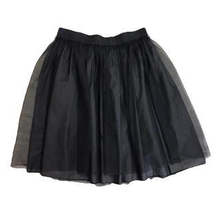イエナ(IENA)のイエナスローブ ブラックチュールスカート(ひざ丈スカート)