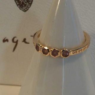 アガット(agete)のアガット K10 リング ピンクトルマリン 5号 ピンキー デザイン 美品(リング(指輪))