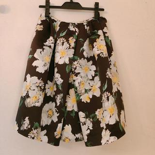 チェスティ(Chesty)のチェスティ花柄スカート 黒 0サイズ chesty(ひざ丈スカート)