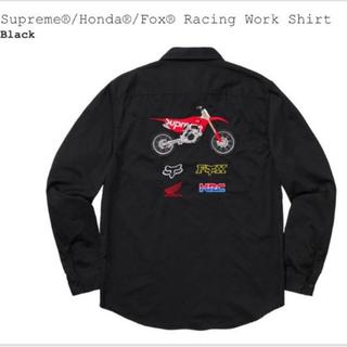 シュプリーム(Supreme)のSupreme Honda Fox Racing Work Shirt M 黒 (シャツ)