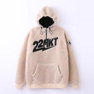 エモダ(EMODA)の22;MARKET ♡ teddy hoodie クリーム(トレーナー/スウェット)