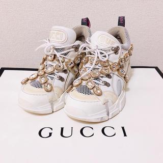 グッチ(Gucci)のGUCCI フラッシュトレック スニーカー クリスタルつき(スニーカー)