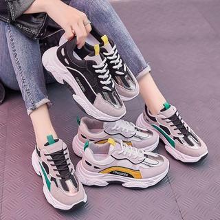 韓国ファッション 厚底 スニーカー 3style 軽量 通気性 特価発売美脚(スニーカー)