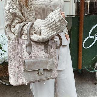 エイミーイストワール(eimy istoire)のdarich スクエアドッキングバッグ beige(ハンドバッグ)