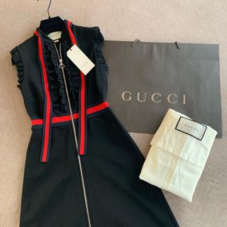 グッチ(Gucci)の【値引】グッチ GUCCI ♡ ヴィスコース ジャージドレス xs タグ付き(ひざ丈ワンピース)