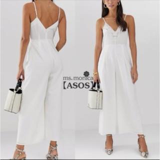 エイソス(asos)のキャミ ホワイト パンツ ドレス(ミディアムドレス)