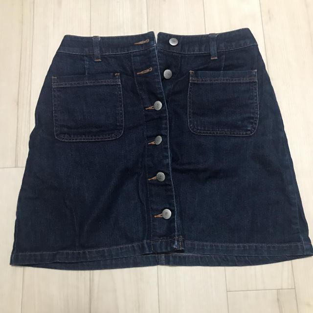 LOWRYS FARM(ローリーズファーム)の台形 デニムスカート ミニ レディースのスカート(ミニスカート)の商品写真