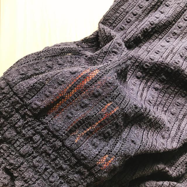 GU(ジーユー)のGU ジーユー ノースリーブ トップス 紺 レディースのトップス(シャツ/ブラウス(半袖/袖なし))の商品写真