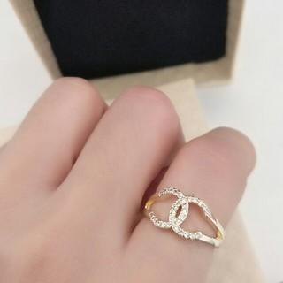 シャネル(CHANEL)の超美品シャネルCHANEL レディース リング 指輪 US6# 正規品(リング(指輪))