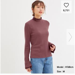 ジーユー(GU)のレースレイヤードT GU ピンク(Tシャツ(長袖/七分))